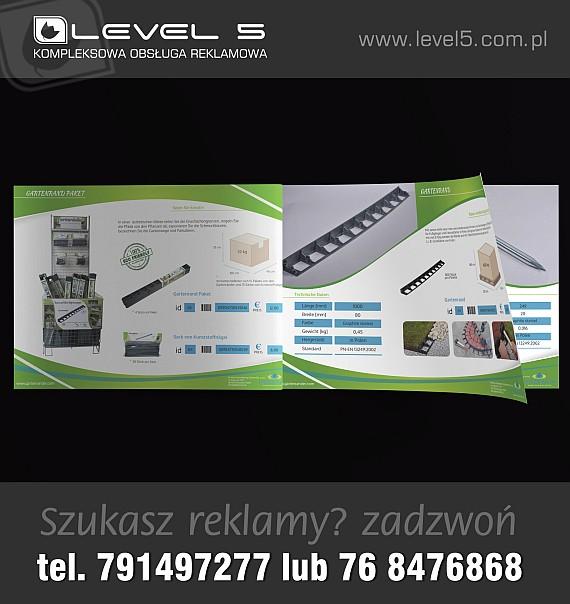 Foldery reklamowe, broszury, publikacje, katalogi